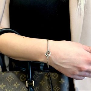 Sterling silver bracelet knot delicate dainty